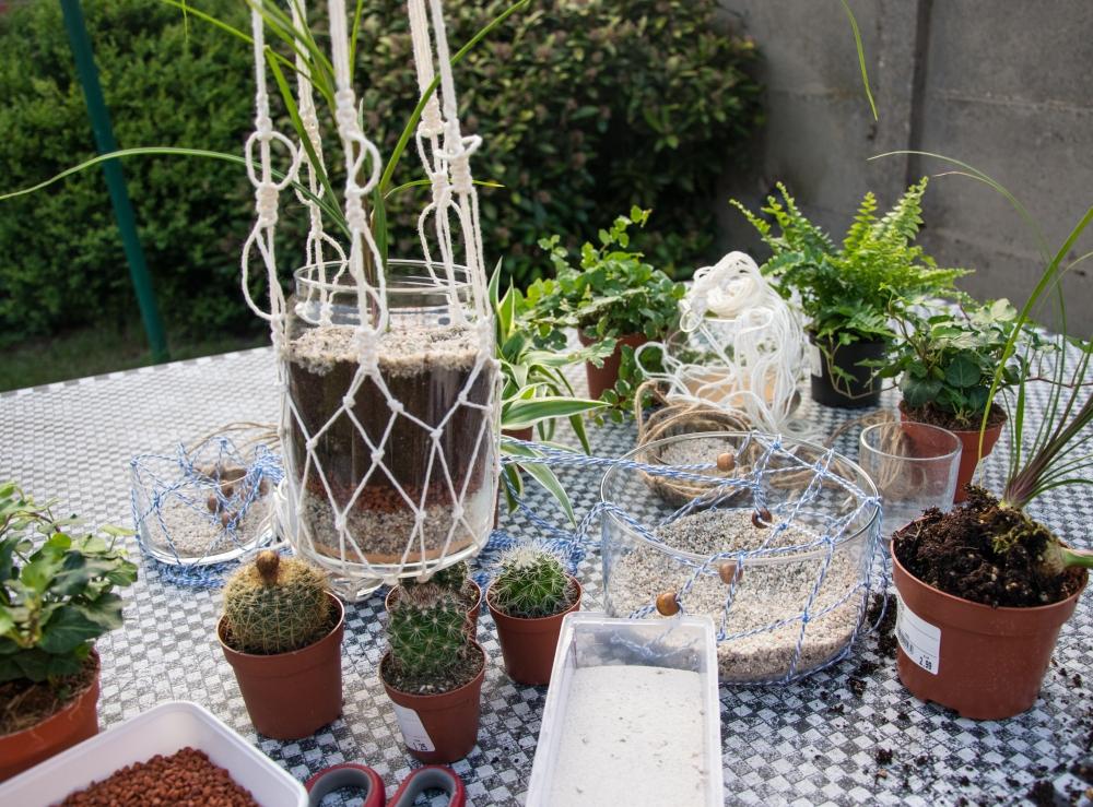 Macrame - plantenhangers - 05052017 --